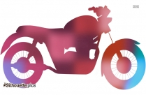 Motorcycle Vector Clipart Silhouette