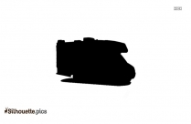 Motorhome Side View Silhouette Illustration