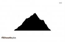Mountain Scenery Silhouette Clipart