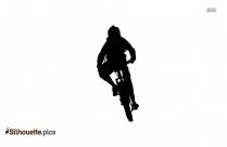 Silhouette Of Mountain Bike Vector Image