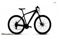 Mountain Bike Silhouette Vector Image