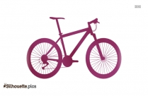 Mountain Bike Silhouette Vector Free