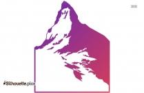 Mountain Logo Silhouette Background