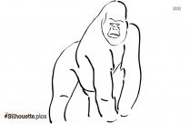 Gorilla Toy Logo Silhouette For Download