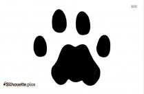 Raccoon Paw Foot Print Silhouette