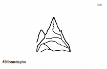 Mountain Cliff Silhouette Illustration