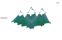 Free Mountain Clipart Silhouette Image