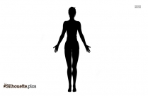 Head To Knee Pose Silhouette, Vector
