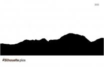 Mountain Range Logo Silhouette Image