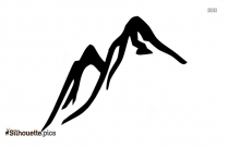 Mountain Drawing Silhouette