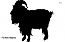 Mountain Goat Vector Silhouette