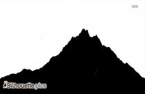 Mountain Silhouette Black And White