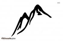 Mountain And Tree Silhouette Tattoo