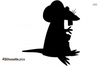 Mouse With Cheese Clip Art, Silhouette