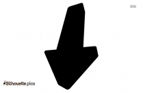 Down Arrow Silhouette Image For Free Download