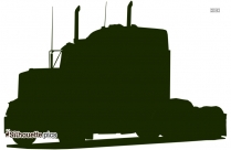 Pickup Truck Icon Silhouette
