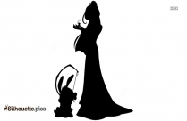 Black Mickey Mouse Silhouette Image