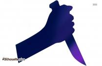 Hand Down Clip Art Silhouette