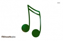 Music Notes Silhouette Free Vector Art