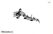 Music Notes Silhouette Image