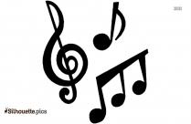 Music Symbols Silhouette Clip Art Image