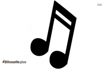 Music Quarter Note Silhouette Free Vector Art