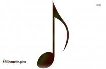 Black Music Symbol Silhouette Image