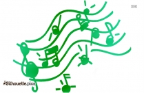 Music Notes Clip Art Silhouette