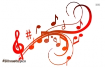 Musical Notes Drawing Silhouette