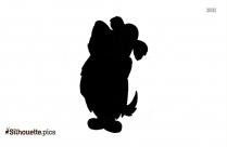 Augie Doggie Silhouette Clip Art