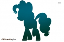Cute Pony Silhouette Image Vector