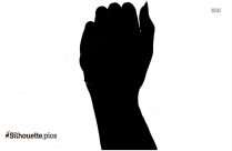 Hand Cartoon Outline Vector Silhouette Image