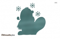 Napping Cold Cartoon Silhouette Drawing