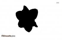 Cartoon Spring Flowers Silhouette Image