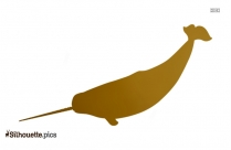 Narwhal Silhouette Clipart