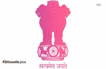 National Emblem Of India Silhouette Image
