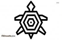 Native American Turtle Trible Animals Silhouette