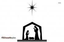 Nativity Clipart Silhouette, Vector Art