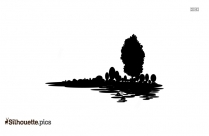 Nature Drawing Silhouette Background