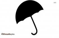 Umbrella Emoji Silhouette