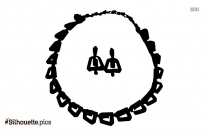 Diamond Ring Silhouette Vector And Graphics