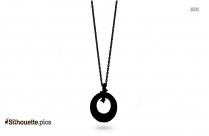 Diamond Necklace Silhouette Illustration