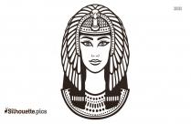 Nefertiti Tattoo Silhouette Illustration