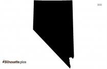 Nevada Silhouette, America State Map Clipart