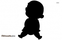 Cute Babies Cartoon Silhouette
