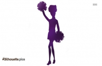 New Cheerleader Silhouette Vector