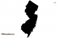 New Jersey Map Silhouette Clipart Image