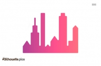 City Skyline Vector Silhouette Image