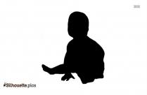 Newborn Baby Symbol Silhouette