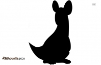Baby Kangaroo Silhouette, Baby Animals Vector Illustration